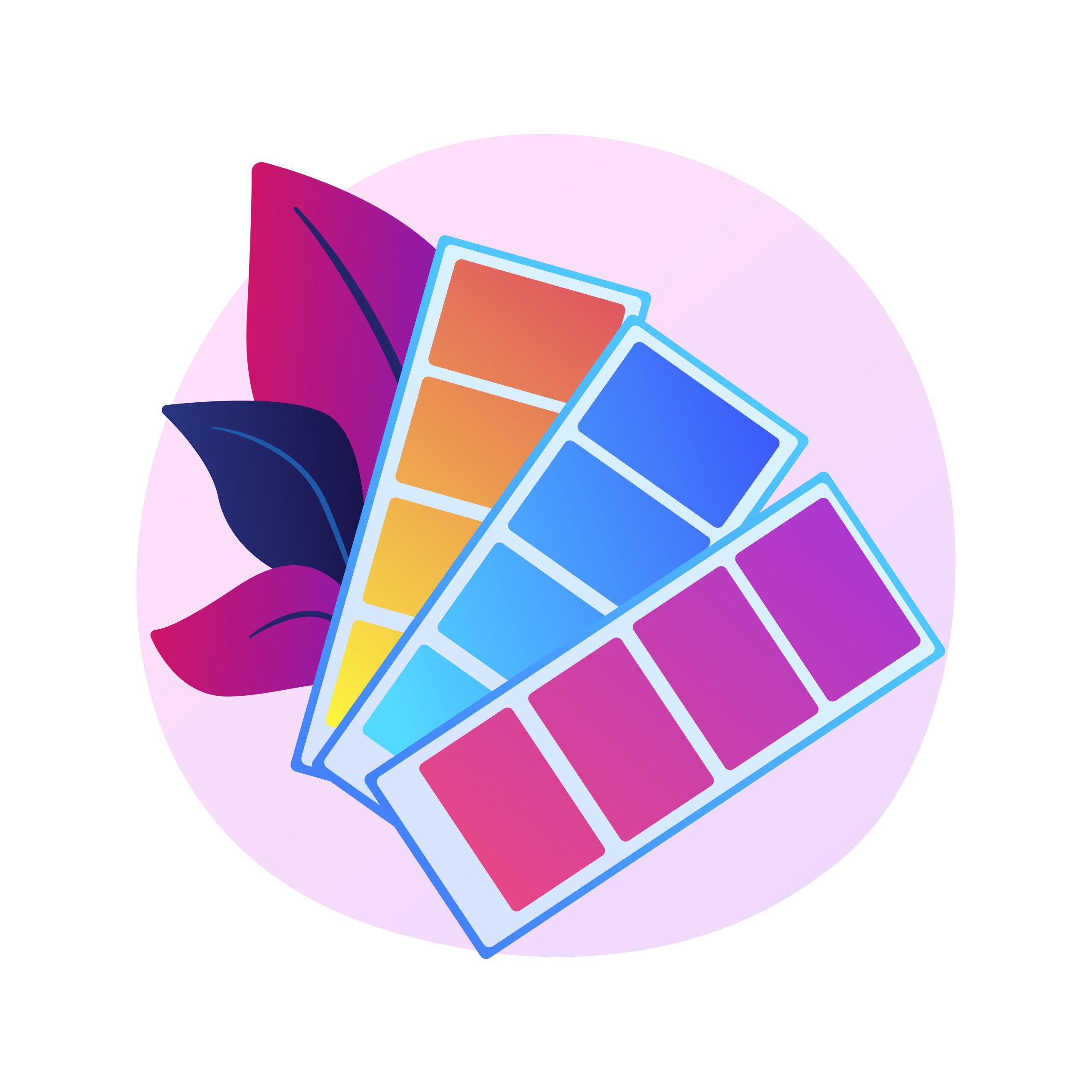 Colors swatches palette vector concept metaphor.